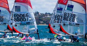 O'Pen Bic World Championships. Manly Sailing Club, New Zealand. Sunday 30 December. © Suellen Davies