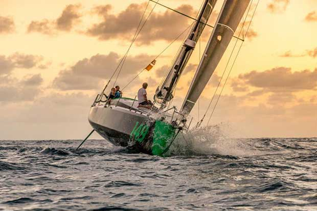Norwegian-flagged Class40 Hydra at the finish of the RORC Transatlantic Race - photo © RORC / Arthur Daniel