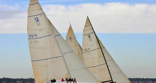 KZ-5 and KZ-7 at the 12 Metre North American Championship 2012 - photo © SallyAnne Santos / Windlass Creative