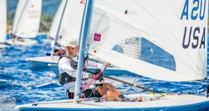 Mike Mattan enjoying Caribbean saline and sun at the 2017 Caribbean Laser Midwinter Regatta © Image courtesy of Carib Wind Cabarete Laser training center