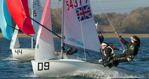 Charlotte Boyle and Georgia Baker in the 420 End of Season Championship at Grafham Water © Richard Sturt