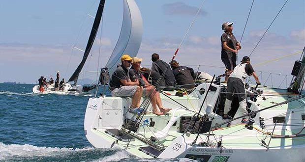 Close racing for Whistler (foreground) and Philosopher from TAS - Australian Yachting Championship 2019 - photo © Caitlin Baxter
