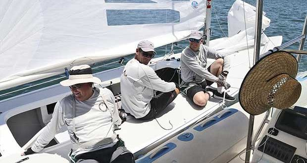 Land Rat come to spend some time with media team on day 1 of the Etchells Australian Championship © John Curnow