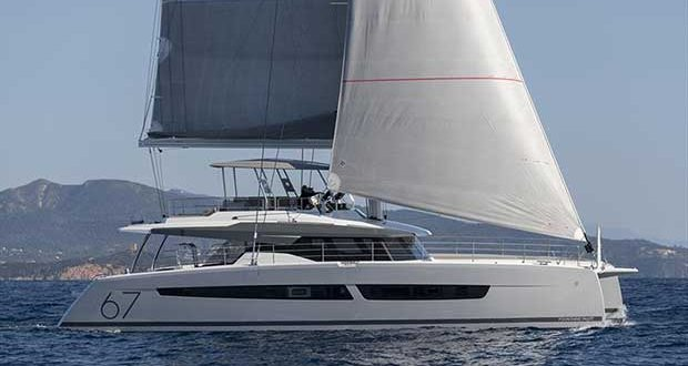 Fountaine Pajot's new Alegria 67 has won the Christofle Yacht Style award for Best Multihull Over 15m © Gilles Martin-Raget