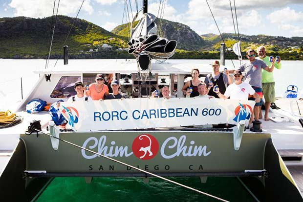 John Gallagher's Gunboat 62 Chim Chim (USA) has won the MOCRA class after time correction - 2019 RORC Caribbean 600 - photo © RORC / Arthur Daniel