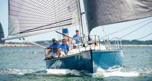 Chip Hawkins' C&C 41 Caneel won its class in both the 'Round-the-Island Race and the 'Round-the-Buoy races at last year's Edgartown Race Weekend. © Cate Brown
