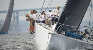 The Reichel/Pugh 63 Gambler, with sailors from the Young American Sailing Academy in Rye, N.Y., sailing last year's Ida Lewis Distance Race. © Michele Almeida/MISTE Photography