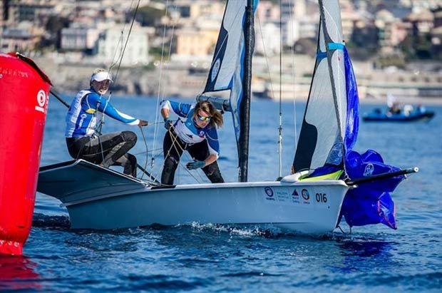 Vilma Bobeck and Malin Tengström - Hempel World Cup Series Genoa © Jesus Renedo / Sailing Energy / World Sailing