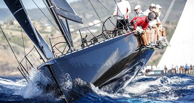 Racecourse action at the Peters & May Round Antigua Race - photo © Image courtesy of Peters & May Round Antigua Race/Paul Wyeth