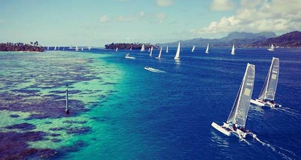 World class sailing in Tahiti © Bertand Duquenne