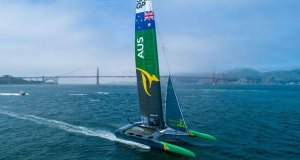 Australia SailGP Team has their first practice for the San Francisco SailGP © Sam Greenfield