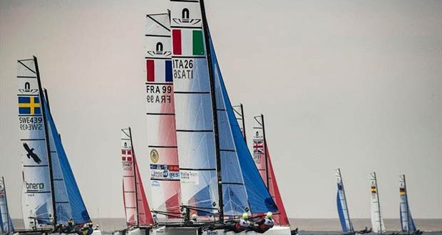 Day 5 of the Volvo Nacra 17, 49er and 49er FX European Championship © Drew Malcolm