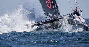 Alinghi has pulled out in front on day 2 of the GC32 World Championship at Lagos © Jesus Renedo / Sailing Energy / GC32 Racing Tour