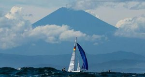Racing under Mt. Fuji © Sailing Energy / World Sailing