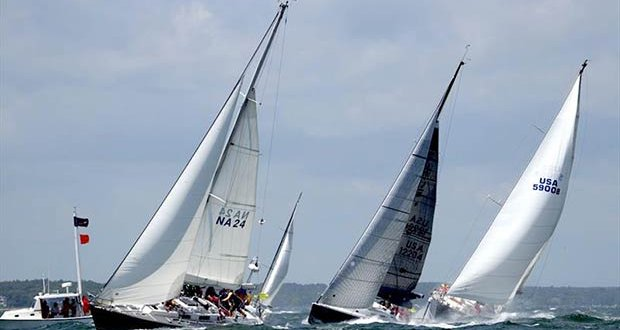 Class B winner and second in the Founders Division was the US Naval Academy's Gallant, a Pearson Composite Navy 44 skippered by Christian Hoffman. - photo © Fran Grenon, Spectrum Photo