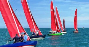 July racing for the Bembridge Redwings © Jessica Speare-Cole