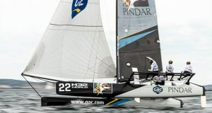 Ian Williams' GAC Pindar at pace - Day 2 - M32 European Series Marstrand 2019 - photo © Drew Malcolm