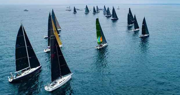 Second wave of 27 monohulls in 3 divisions starting off today in light air - Transpac 50 © Ronnie Simpson / Ultimate Sailing