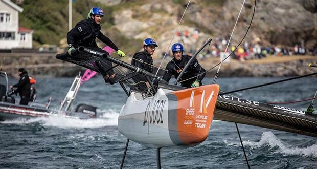 Måns Holmberg, SWE (Stratsys Racing) on day 3 of the World Match Racing Tour Championship Final at Marstrand - photo © Patrick Malmer