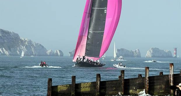 The view from Hurst Castle during the Round the Island Race 2019 © Mark Jardine