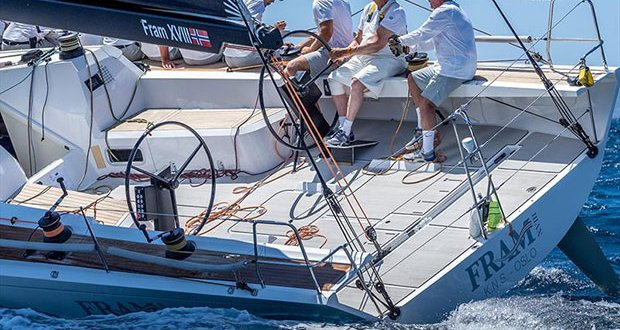 King Harald of Norway with his Fram XVIII training in Palma - 38 Copa del Rey MAPFRE - photo © Nico Martínez / Copa del Rey MAPFRE