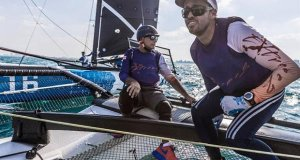 Taylor Canfield (right) will sail with Convexity for this year's M32 Worlds, while Dan Cheresh (left) will steer GAC Pindar / Extreme. - photo © Ian Roman / M32 NA Championship