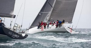 TP52 Zen started well, managing to beat larger RP63 No Limit to open water - Flinders Islet Race 2019 - photo © Cruising Yacht Club of Australia