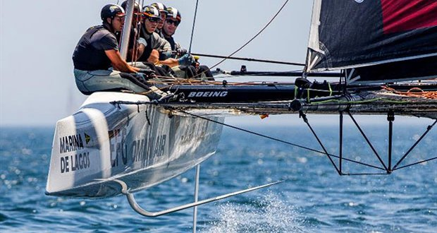 Oman Air currently sits at the top of 2019 GC32 Racing Tour leaderboard after winning in Villasimius and at Copa del Rey MAPFRE. - photo © Jesus Renedo / Sailing Energy / GC32 Racing Tour