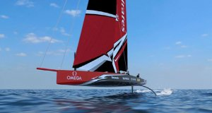 The 36th America's Cup class boat concept of the AC75. © Virtual Eye