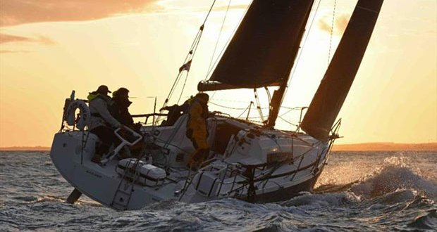 Trevor Middleton's British Sun Fast 3600 Black Sheep sails into the sunset with a clutch of trophies after their highly success RORC Season's Points Championship win - photo © Rick Tomlinson