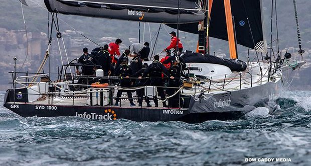 Quieter moment for InfoTrack - CYCA Bird Island Race - photo © Bow Caddy Media