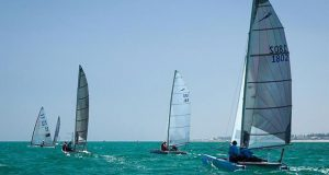 Mick and Di Floyd sailing Totally in the Mosquito Mk II fleet - 2020 Adelaide National Regatta - photo © Brad Halstead