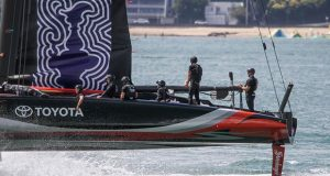2. Emirates Team New Zealand - has there been changes to the mainsail clew control system? January 8, 2020 - photo © Richard Gladwell / Sail-World.com