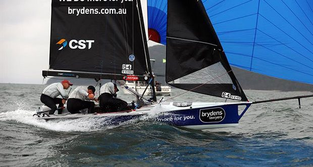 Race 9 Brydens Lawyers crossing line - 2020 Australian 16ft and 13ft Skiff Championships - photo © Mark Rothfield