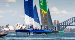 France SailGP Team at Sydney Harbour. - photo © Eloi Stichelbaut / France SailGP Team