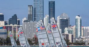 Nacra 17 fleet - Hempel World Cup Series Miami © World Sailing