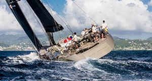 French Wally 100 Dark Shadow finishes the 2019 RORC Transatlantic Race in Grenada - photo © RORC / Arthur Daniel