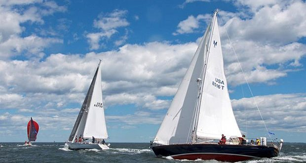 While some of the world's most competitive yachts come to compete in the Block Island Race, racer-cruisers and even full-on cruisers have a chance to bring home some silver. Elena, a 35-year-old Alden 50 competing in her first Block Island Race © Rick Bannerot, Ontheflyphoto.net