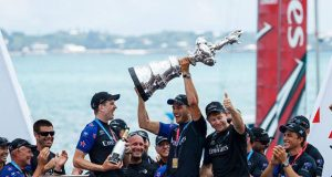 Emirates Team New Zealand lift the America's Cup © World Sailing