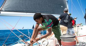 Jamille Charles racing on Peter Anthony's Farr 65 Spirit of Juno (ANT) - 2020 Grenada Sailing Week - photo © Arthur Daniel