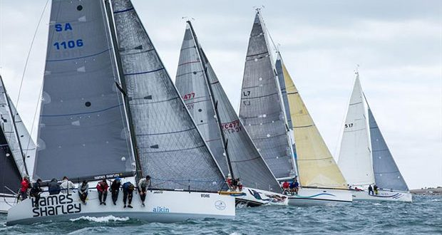 Division one racing off the start line in 2017 Teakle Classic Adelaide to Port Lincoln Yacht Race © Take 2 Photography
