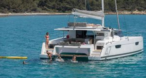 Multihull Solutions will showcase the award-winning Fountaine Pajot Saona 47 sailing catamaran at the 2020 Club Marine Pittwater Sail Expo. © Gilles Martin-Raget
