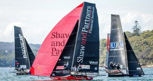 Shaw and Partners on day 3 the 2020 18ft Skiff JJ Giltinan Championship ©Frank Quealey