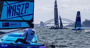 Waszp inspire racing event day 2 at Sydney SailGP - photo © Jordan Roberts / SailGP