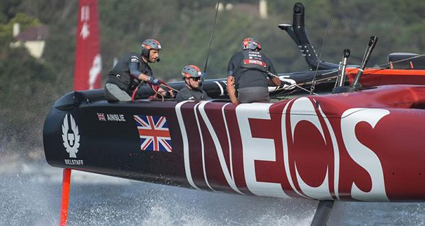 Great Britain SailGP Team helmed by Ben Ainslie in action during races on Race Day 2. - SailGP - Sydney - Season 2 - February 2020 - Sydney, Australia. - photo © Drew Malcolm/SailGP