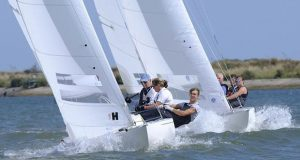 Looking forward to fun times ahead with close racing in the Dragon class © Roger Mant Photography