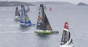 The Transat Bakerly yacht race. The start of solo transatlantic race start from Plymouth UK - New York. USA © Lloyd Images