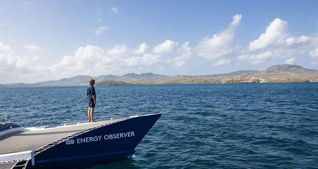 Energy Observer in the Islands of the Saintes in Guadeloupe - photo © Francine Kreiss