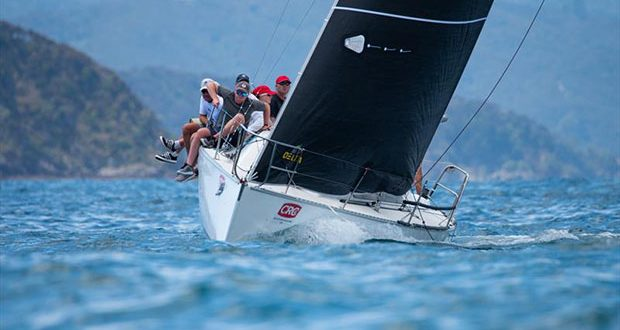Gavin and Carrington Brady on Young 88 Slipstream suffered from a DSQ on day 2 - CRC Bay of Islands Sailing Week - Day 2 - January 23, 2020 © Lissa Reyden