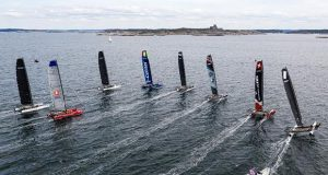 M32 European fleet racing outside the island of Marstrand. © Drew Malcolm / M32 World